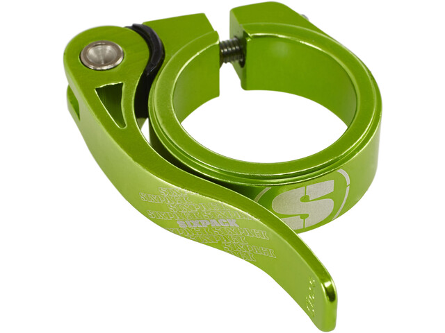 Sixpack Menace Sattelklemme Ø34,9mm electric-green